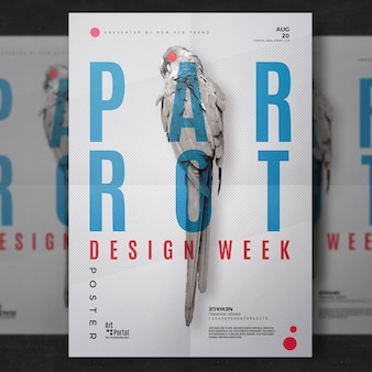 Parrot flyer template