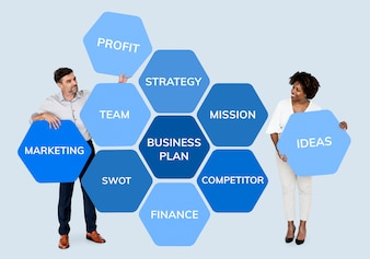 Partners with a business plan
