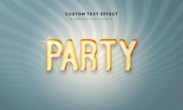 Party balloon 3d text style effect