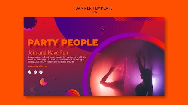 Шаблон баннера партии