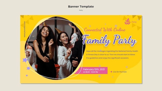 Party banner template