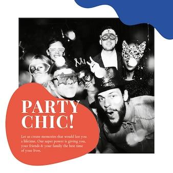 파티 세련된 광고 템플릿 psd 이벤트 조직 소셜 미디어 게시물