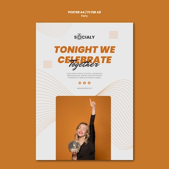 Party concept poster template style