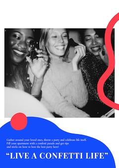 主催者のためのパーティーイベントマーケティングテンプレートpsd広告ポスター