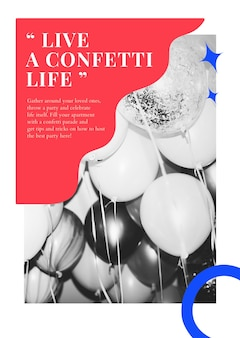 Poster pubblicitario psd modello di marketing per eventi di festa per gli organizzatori