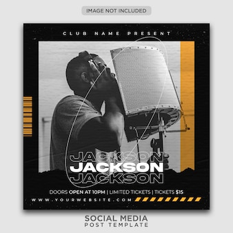 Party flyer template or social media post