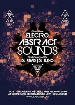 Абстрактные звуки party flyer