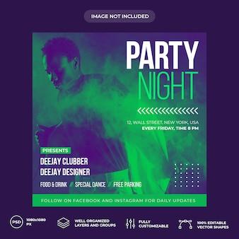 Party night social media banner