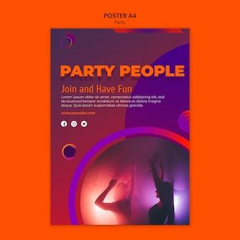 Modello di poster del partito