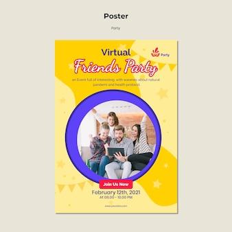 Шаблон плаката партии