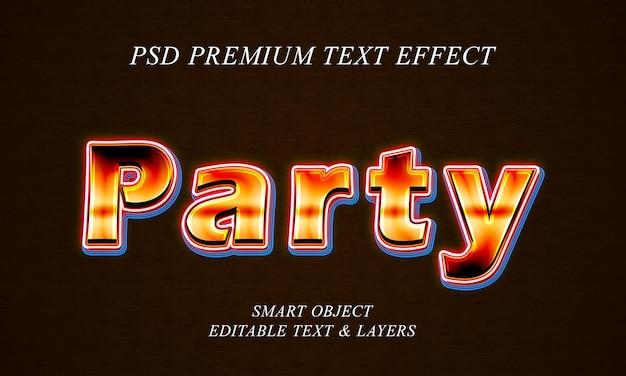 Дизайн текстового эффекта вечеринки