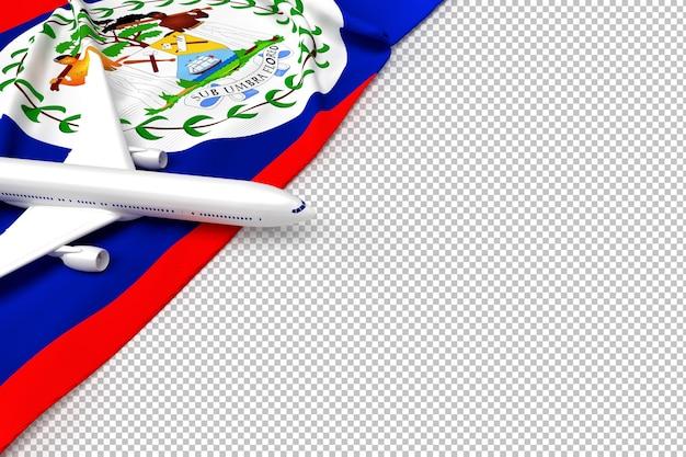 Пассажирский самолет и флаг белиза