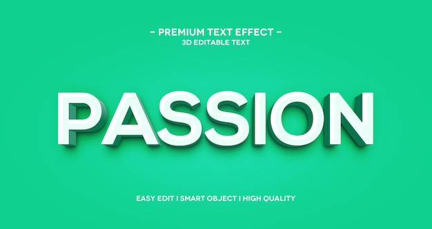 Passion 3d text effect template