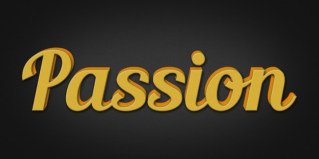 Passion editable text стиль эффект