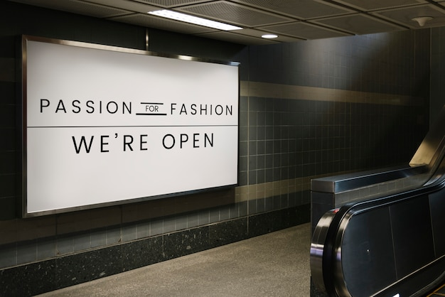 Passion for fashion signboard mockup