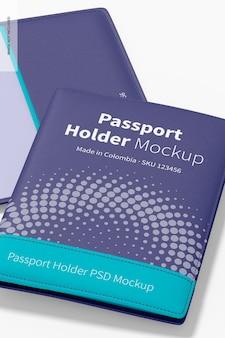 Мокап держателя паспорта, крупным планом Бесплатные Psd