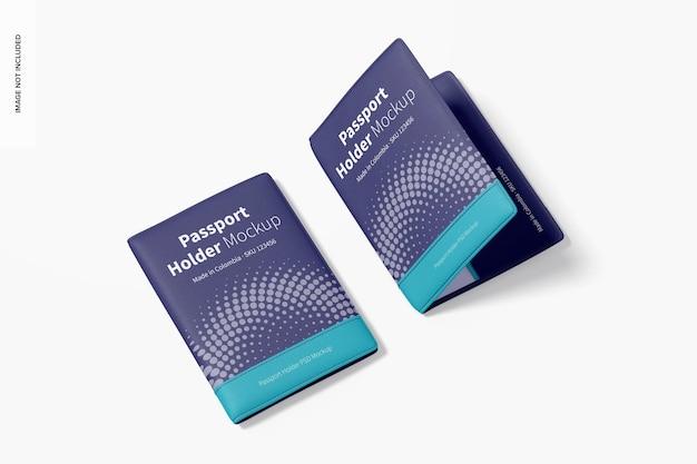 Мокап держателей паспортов