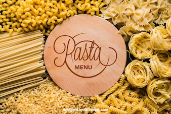 Pasta mockup with board
