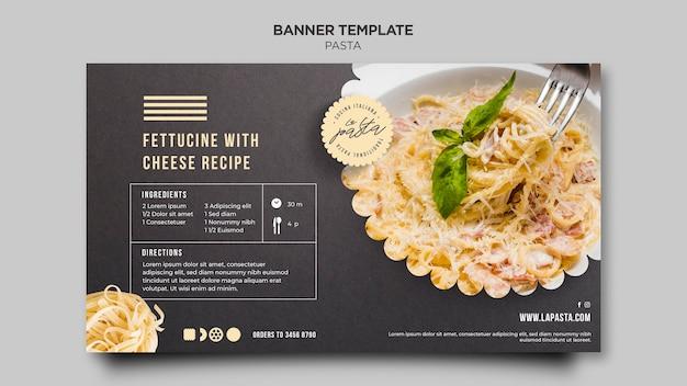 Pasta shop banner template