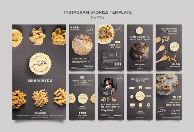 Pasta shop instagram stories template