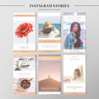 Pastel instagram story template
