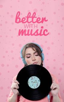 Pastel spring music concept
