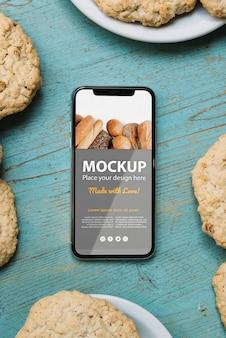 Mock-up di concetto di pasticceria