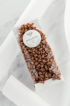 Pastry in transparent packaging arrangement