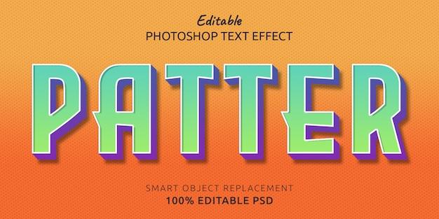 Эффект стиля редактируемого текста patter