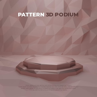 Pattern 3d realistic podium product promo display