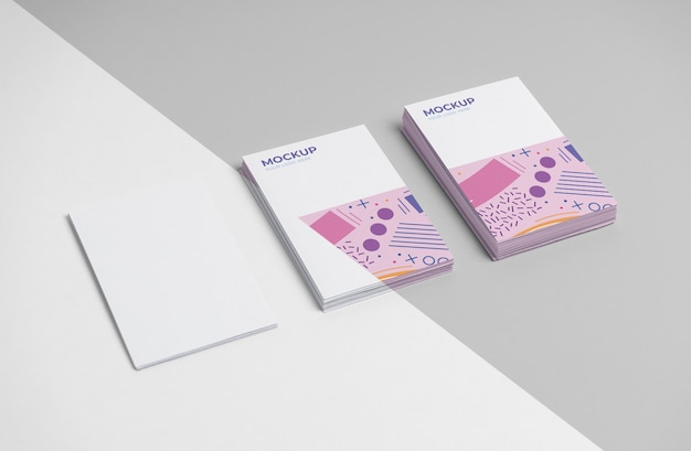 Выкройка расположения визиток
