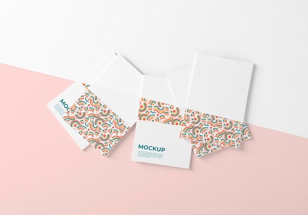 Шаблон визитки плоская планировка Бесплатные Psd