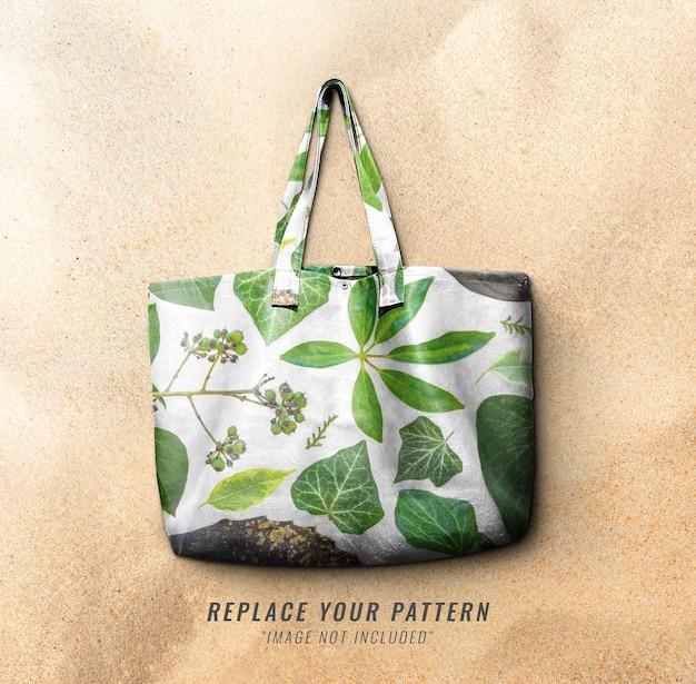 Pattern leather bag mockup