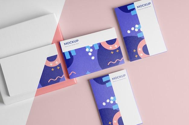 Шаблон визитки макет плоская планировка