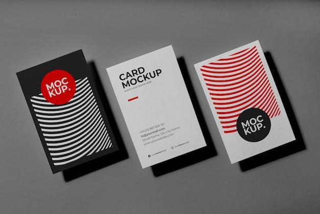 Pattern visit cards mockup