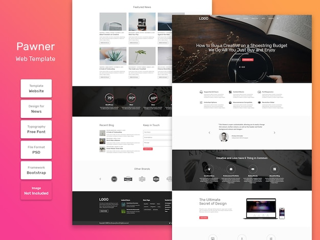 Pawner business and agency web template
