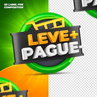 Pay less take more for brazilian campaign 3d render
