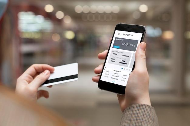 Payment app for smartphones mock-up