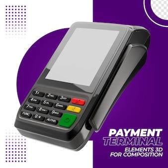 Платежный терминал с кредитной картой 3d