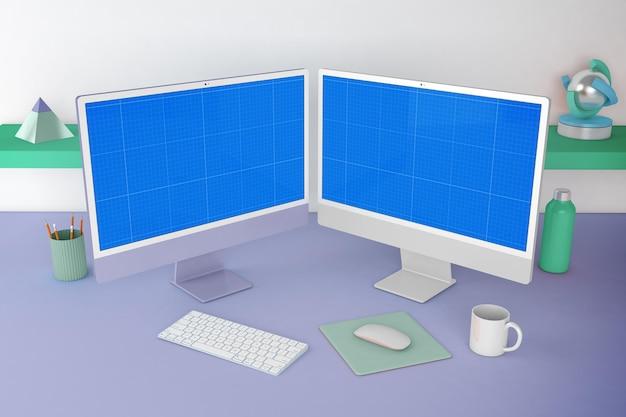 Pc 2021 desktop mockup
