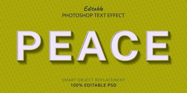 Мир редактируемый текстовый эффект