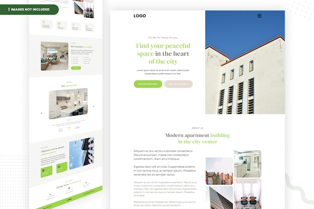 Peaceful space in the heart of the city website template