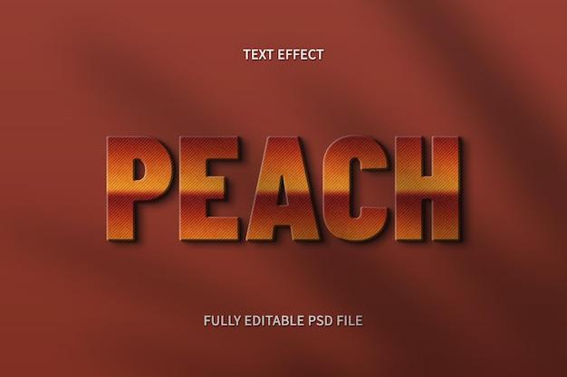 Персиковый текстовый эффект фотошоп