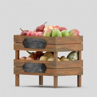 梨リンゴマンゴー3 dレンダリング