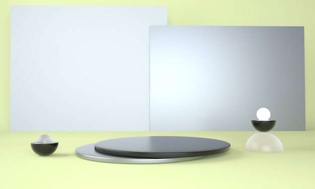 3d 렌더링의 디스플레이 디자인을위한 받침대