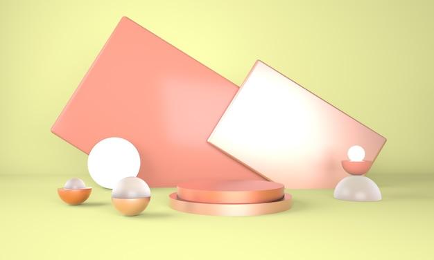 디스플레이 용 받침대, 디자인 3d 렌더링 용 플랫폼