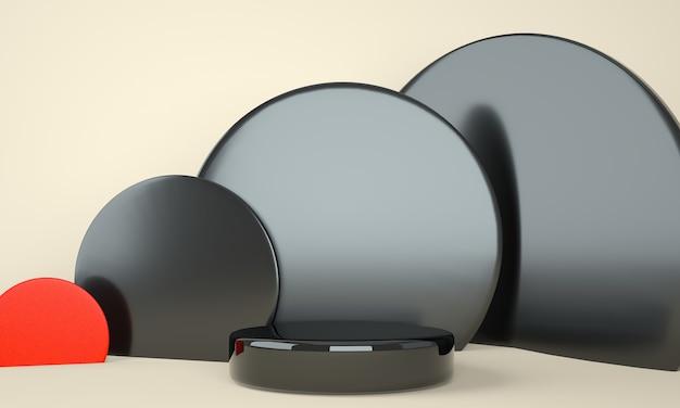 디스플레이 용 받침대, 디자인 용 플랫폼, 빈 제품 3d 렌더링