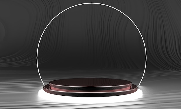 디스플레이 용 받침대, 디자인 용 플랫폼, 3d 렌더링의 빈 제품