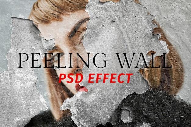 Peeling wall psd effect photoshop add-on