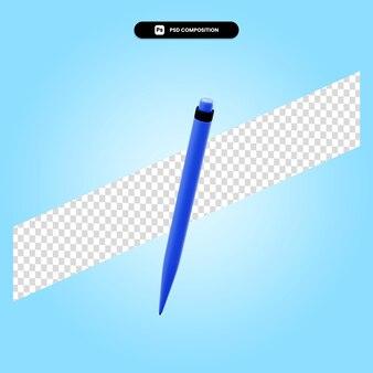 Ручка 3d визуализации изолированных иллюстрация